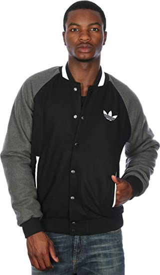adidas Originals Mens Mens Padded Wool Varsity Jacket in