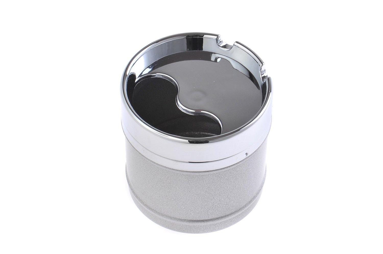 Cendrier élégant et rond, fait en alliage de zinc, avec design de restaurant américain, couleur: gris, Mod. 817-03 (DE)