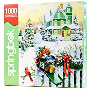 Springbok Holiday Mail 1000 Piece Jigsaw Puzzle By Springbok