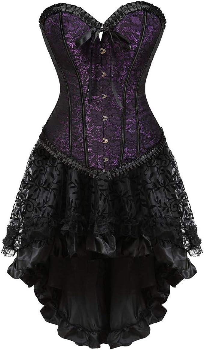 LFFW Corset Conjunto de Falda de corsé de Showwear Clubwear ...
