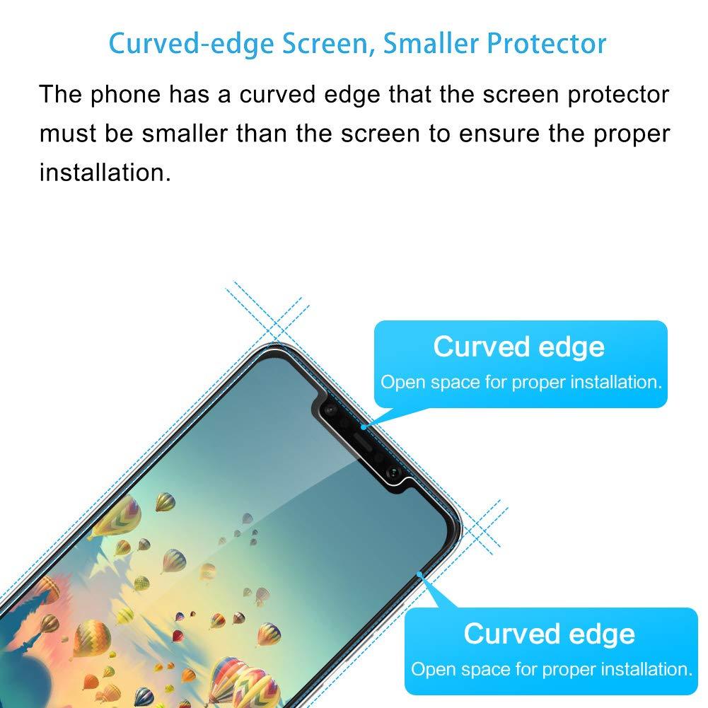 3 Unidades Hanbee Cristal Templado Xiaomi Pocophone F1 Protector de Pantalla para Xiaomi Pocophone F1 Alta Definicion Protector Pantalla Xiaomi Pocophone F1 Cristal Templado Case Friendly