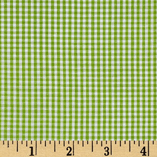 Richland Textiles Richcheck 60in Gingham Check 1/16in Lime Fabric by The Yard, Lime ()