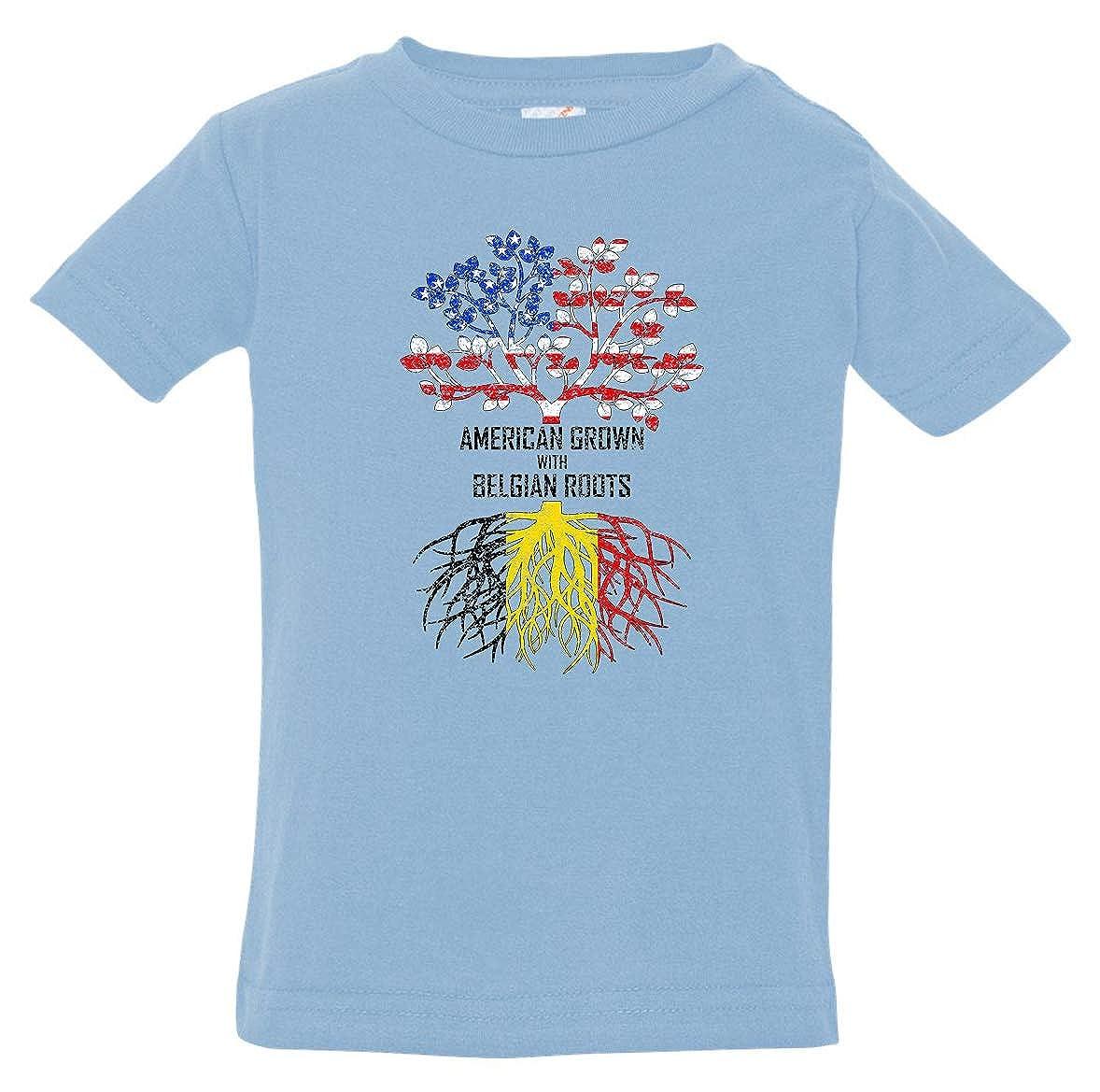 Tenacitee Babys American Grown with Belgian Roots Shirt