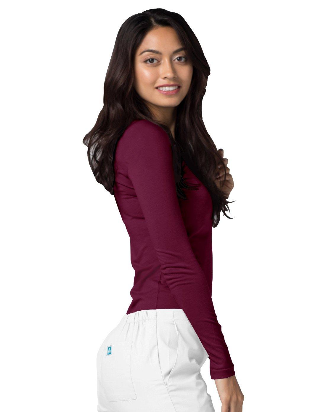 ADAR UNIFORMS Adar Womens Comfort Long Sleeve T-Shirt Underscrub Tee - 2900 - Burgundy - M by ADAR UNIFORMS (Image #5)