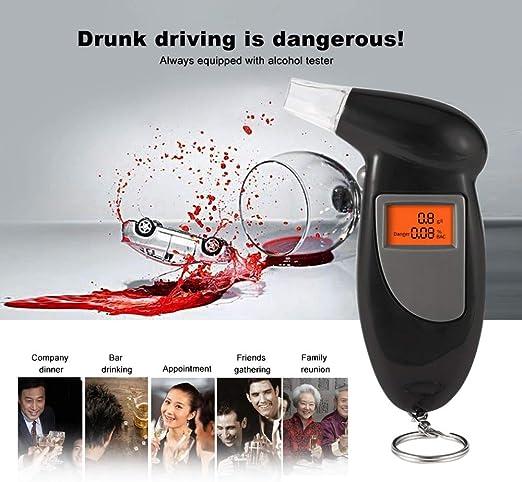 Police Alcohol Breathalyzer Digital Breath Analyzer Tester LCD Detector Driver