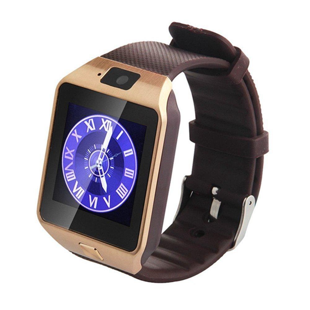 Reloj inteligente Bluetooth,SmartWatch Smart Phone Camera Pulsera Pantalla táctil Compatible con tarjeta SIM/TF para iOS o Android Samsung HTC LG Huawei ...