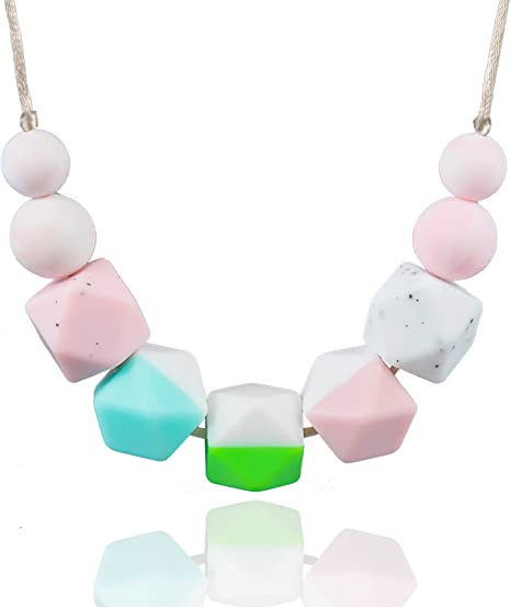 Black Chic Baby Silicone Teething Nursing Breastfeeding Necklace Chewing