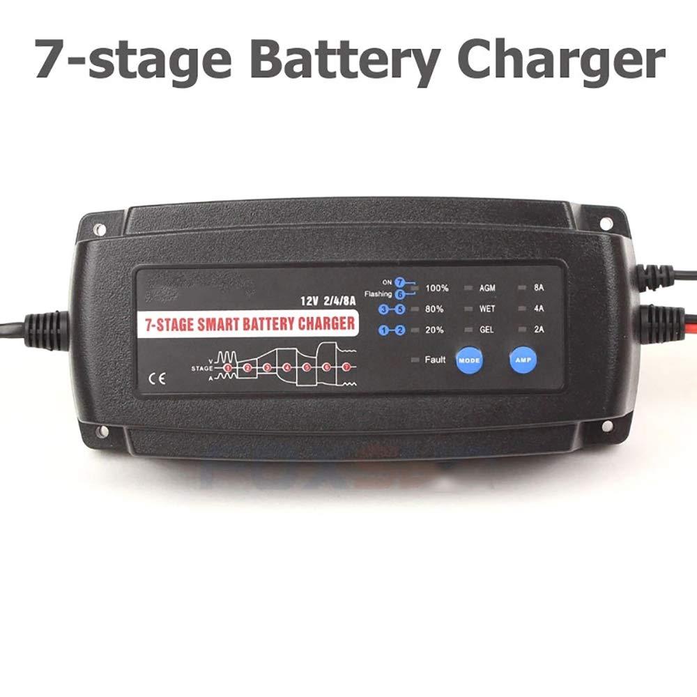 ZUEN Cargador De Batería Inteligente Automático De 12V 2A 4A ...