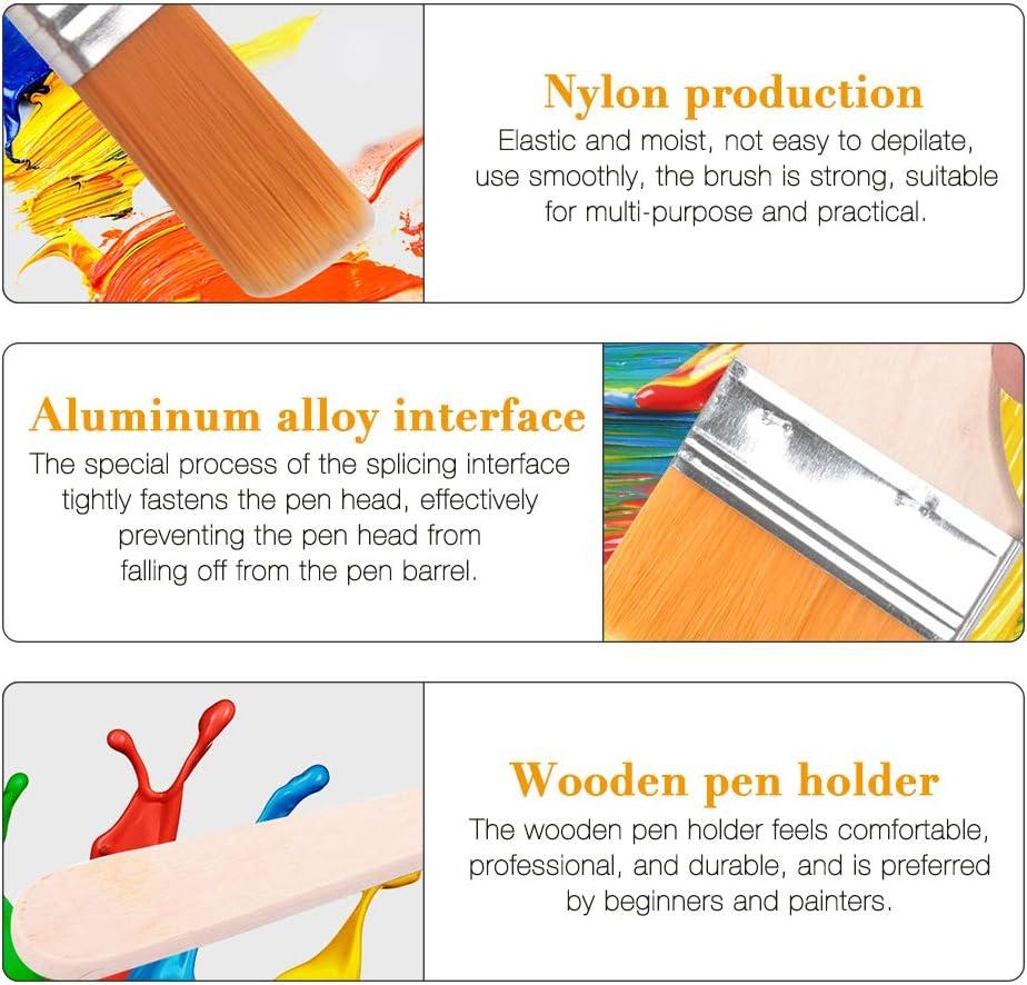 IWILCS Juego de pinceles de madera pincel de ventilador pincel de artista pincel de pintura al /óleo pincel de artista herramienta de acuarela de pintura acr/ílica para artistas 12 piezas