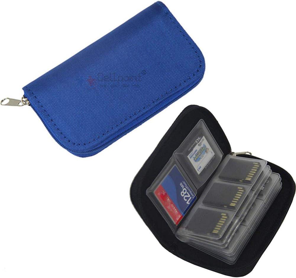 Egurs Speicherkarten Tasche mit 22 Schlitzen Speicherstick Organizer Aufbewahrungs Tasche f/ür Micro SD SDHC