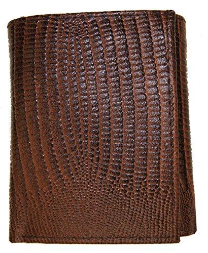 AG Wallets Genuine Leather Men's Snake Skin Embossed Trifold Wallet ()