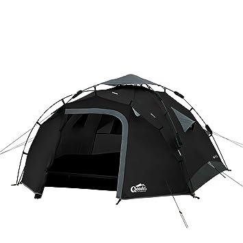Qeedo Quick Pine 3 Seconds Tent 3 Man C&ing Tent (Quick Up System) -  sc 1 st  Amazon UK & Qeedo Quick Pine 3 Seconds Tent 3 Man Camping Tent (Quick Up ...