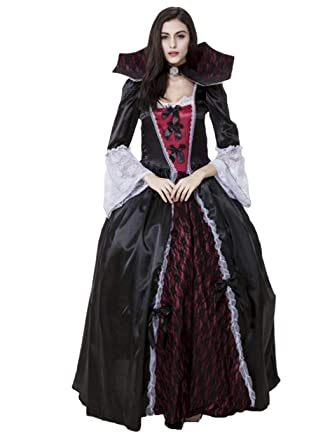 a0b43a36c94 Amazon.com: ZQY Gothic Vampire Costumes, Halloween Queen Costume ...