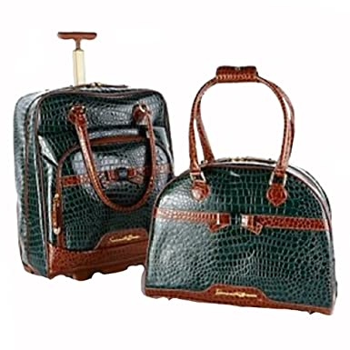 Samantha Brown 2 Piece Cabin Bag And Tote Set   GREEN