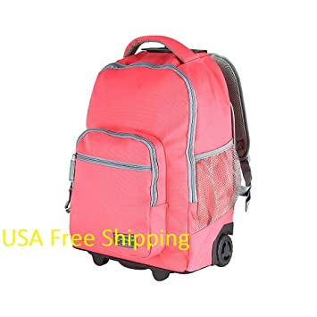 Ruedas para ordenador portátil mochila con ruedas, color rosa, gris y mochila: Amazon.es: Electrónica