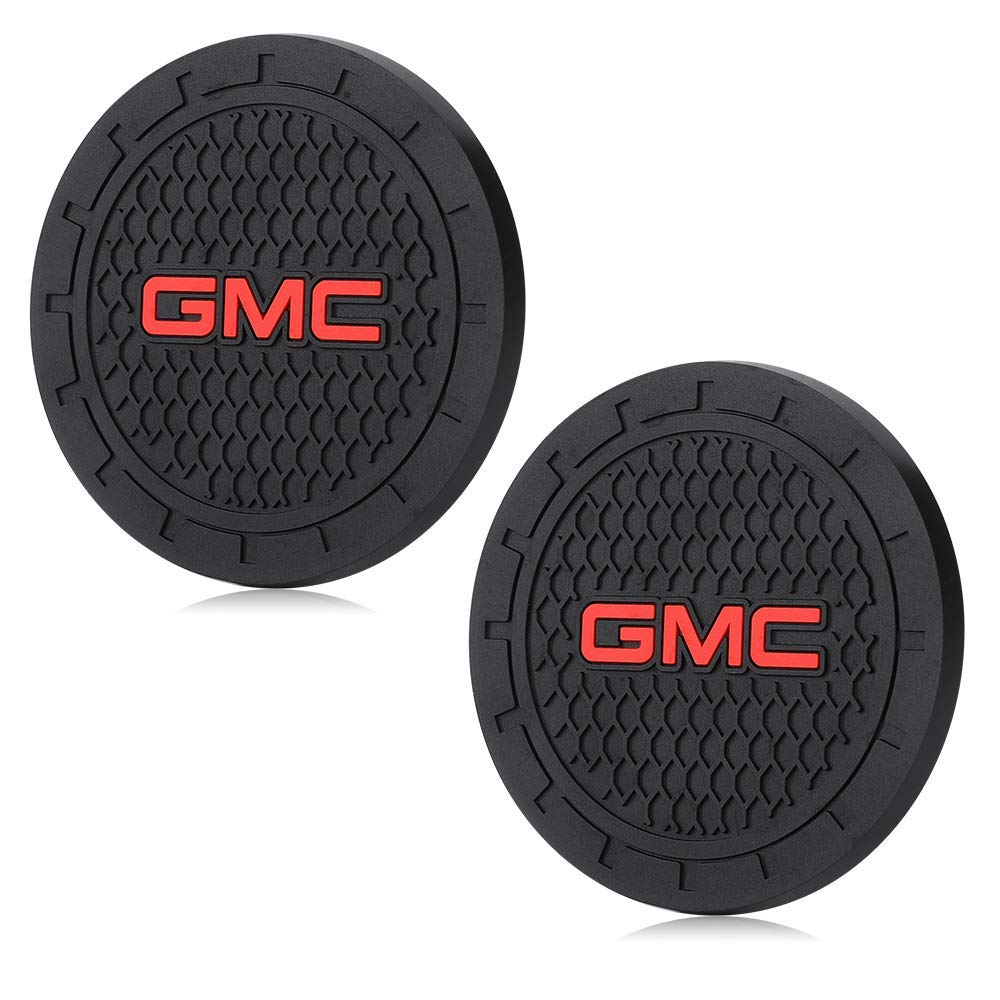 Auto Sport 2.75 Inch Diameter Oval Tough Car Logo Vehicle Travel Auto Cup Holder Insert Coaster Can 2 Pcs Pack mitsubishi
