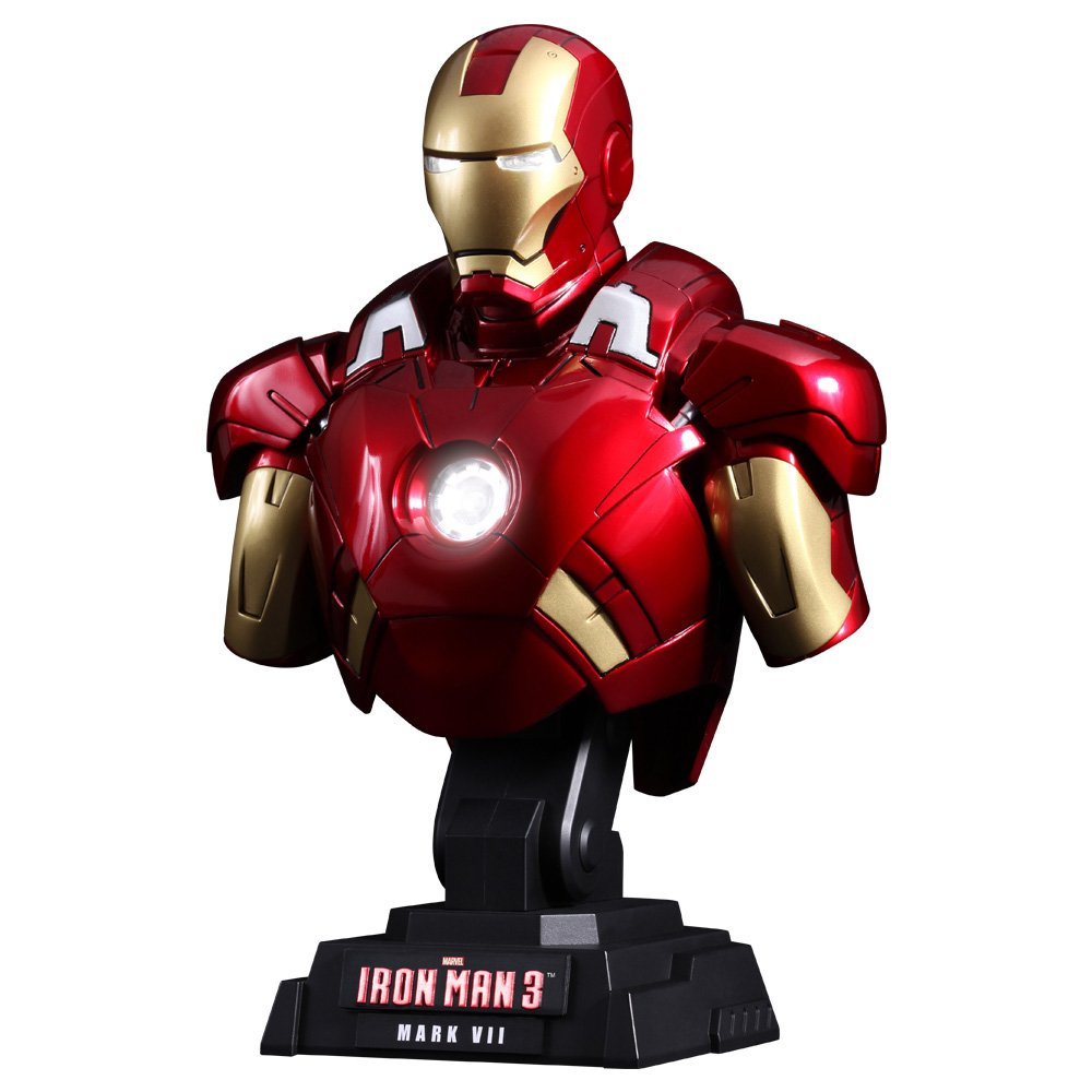 [Hot Toys Bust: 'Iron Man 3' 1/4 scale bust Iron Man Mark 7 (japan import)