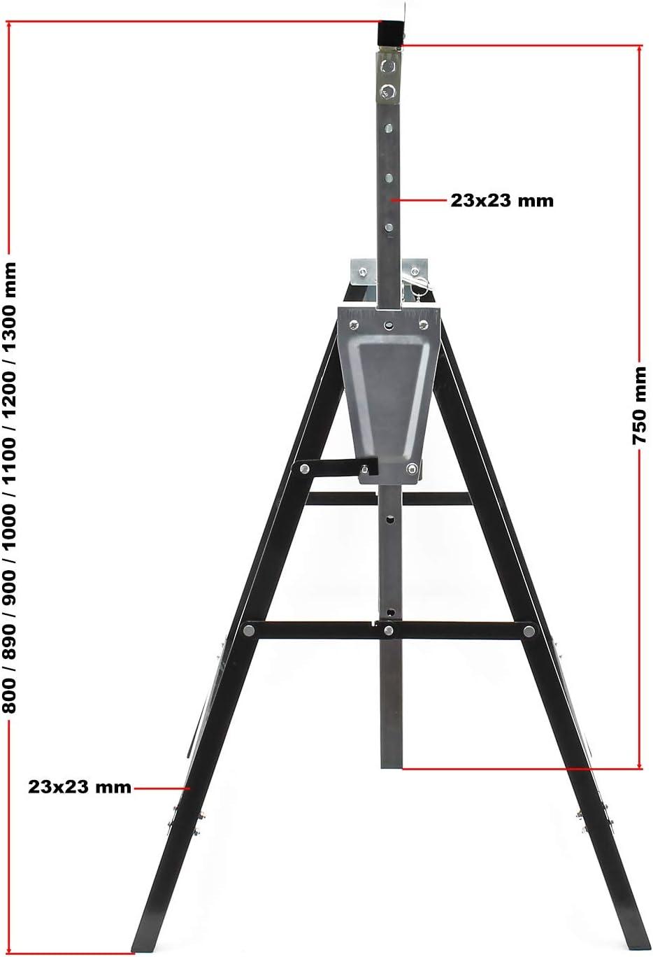 Cavalletti per ponteggio Cavalletto pieghevole telescopico da cantiere 2 pezzi