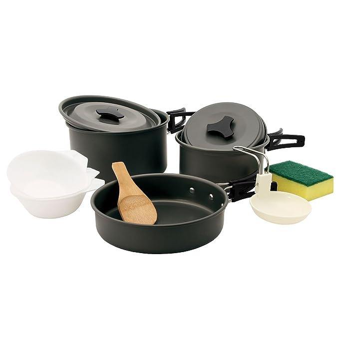 Camp Fuego - 11 Piezas Camping - Set de Cocina, Cocina de Aluminio ...