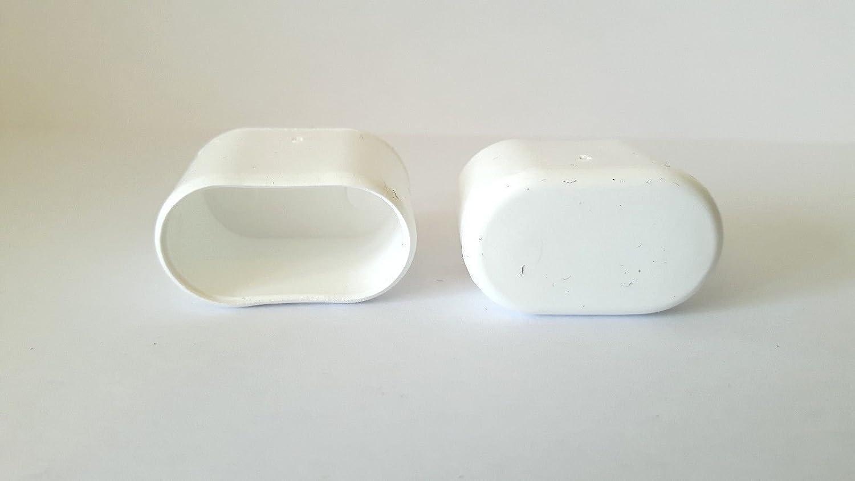 4 Capuchons de recouvrement//Capuchons de pied de chaise pour tubes ovales en plastique