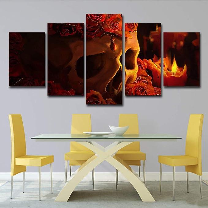 Acheter tableau peinture tete de mort online 19