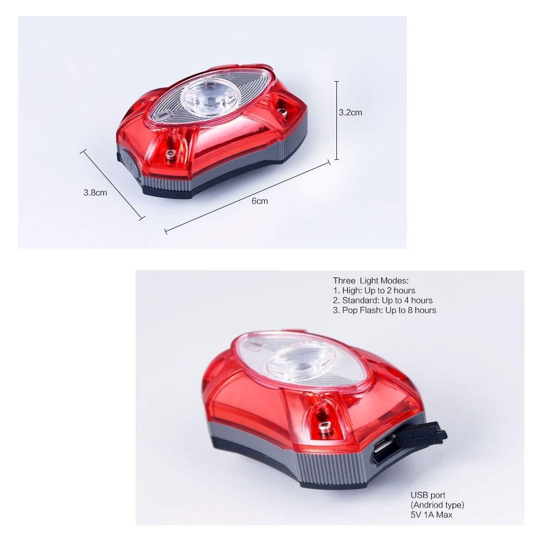 Noyokere USB Rechargeable arrière Queue Lampe de vélo Lampe feu arrière pluie pluie étanche lumineux LED sécurité vélo vélo lumière