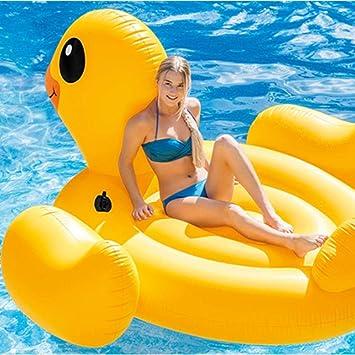 KDKDA Flotador de piscina de pato amarillo inflable gigante Flotador flotante con válvulas rápidas Gran hinchable Volar Verano Playa Piscina Salón de fiestas Decoraciones en balsa Juguetes Niños Adult: Amazon.es: Deportes y