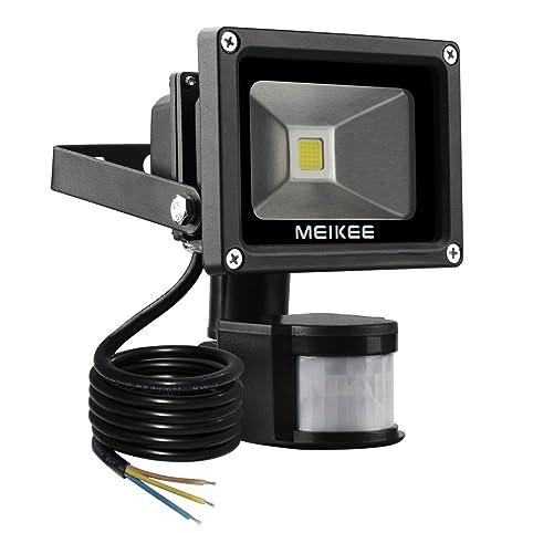 MEIKEE Projecteur LED détecteur de mouvement 10W Lumière led mural ...