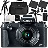 Canon PowerShot G1 X Mark III Digital Camera 9PC Accessory Bundle – Includes 32GB SD Memory Card + 2x Replacement Batteries + MORE - International Version (No Warranty)