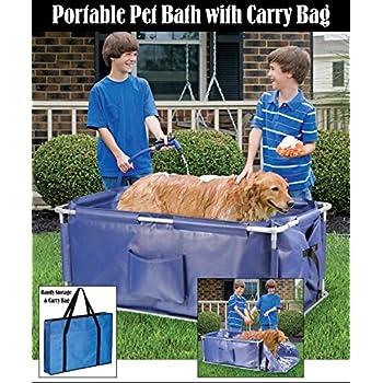 Amazon Com Portable Foldable Pet Bath Tub