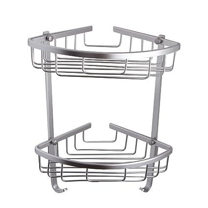 BOEN A11052 Aluminio Rinconera para estantes Organizador para Cesta de  ducha y cocina Accesorios de baño 6200d0c55122