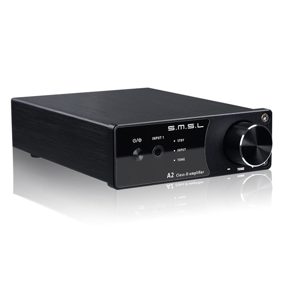 VMV SMSL A2 HiFi Audio Stereo Receiver Class D Digital Amplifier with Subwoofer 40Wx2 Black