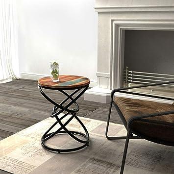 WI Lapdesks de mesa Vintage Industrial Side Muebles redondos ...