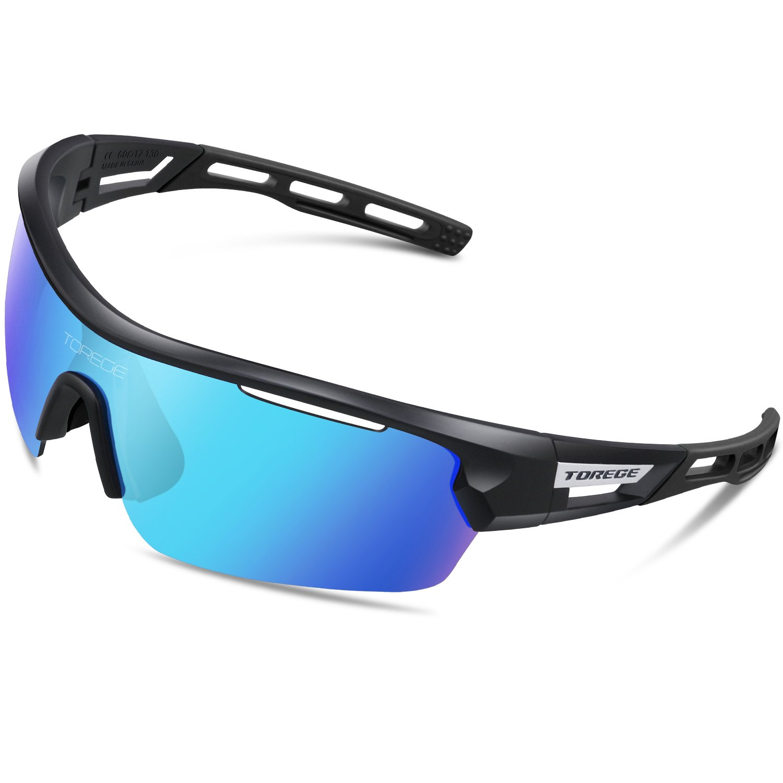 1858660663 Torege Polarized Sports Sunglasses for Men Women Cycling Running ...
