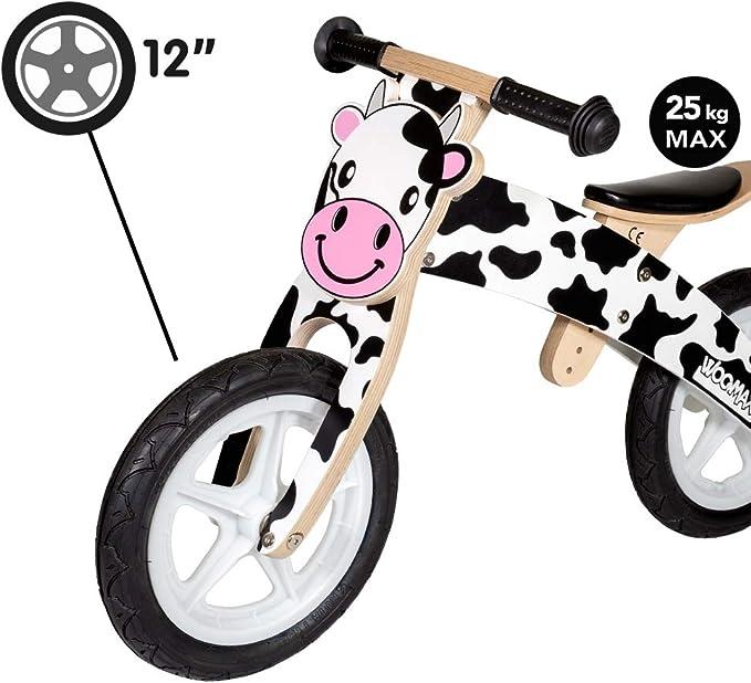 WOOMAX - Bici sin pedales en madera modelo Vaca 12