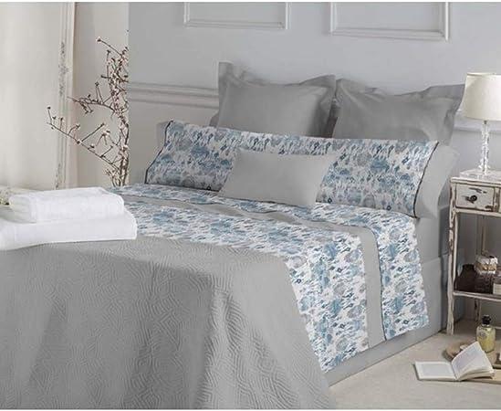 DON ALGODÓN.- Juego de sábanas Marie Color Azul para Cama de 150 cm: Amazon.es: Hogar