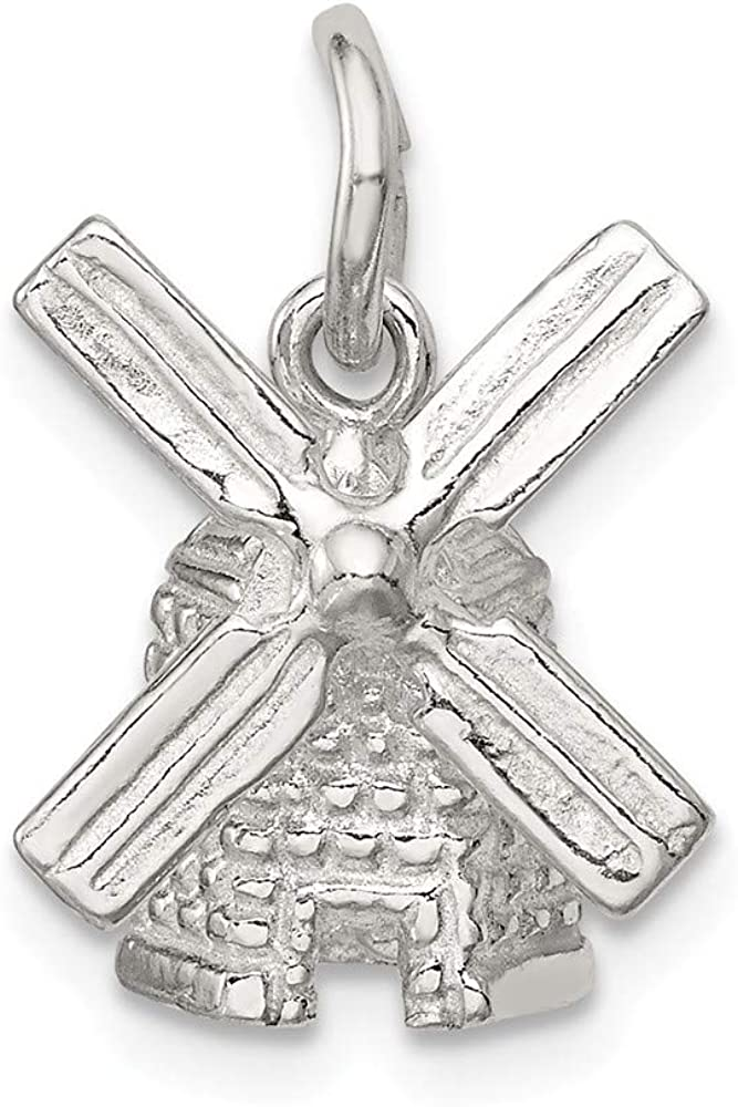 FB Jewels Solid Sterling Silver Moveable Bell Charm