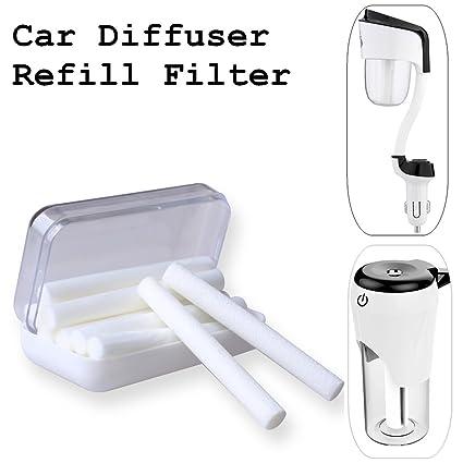 Coche Difusor Filtro, aceite esencial difusor humidificador coche de aire de repuesto de incienso,