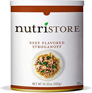 Nutristore Stroganoff #10 Can | Premium Variety Ready to Eat Meals | Bulk Emergency Food Supply | Breakfast, Lunch, Dinner | MRE | Long Term Survival Storage | 25 Year Shelf Life