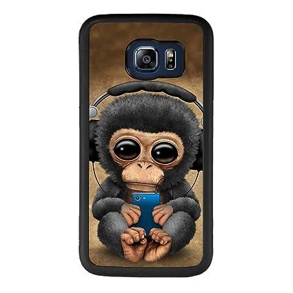 Amazon.com: Samsung Galaxy S6 carcasa de negro patrón de ...