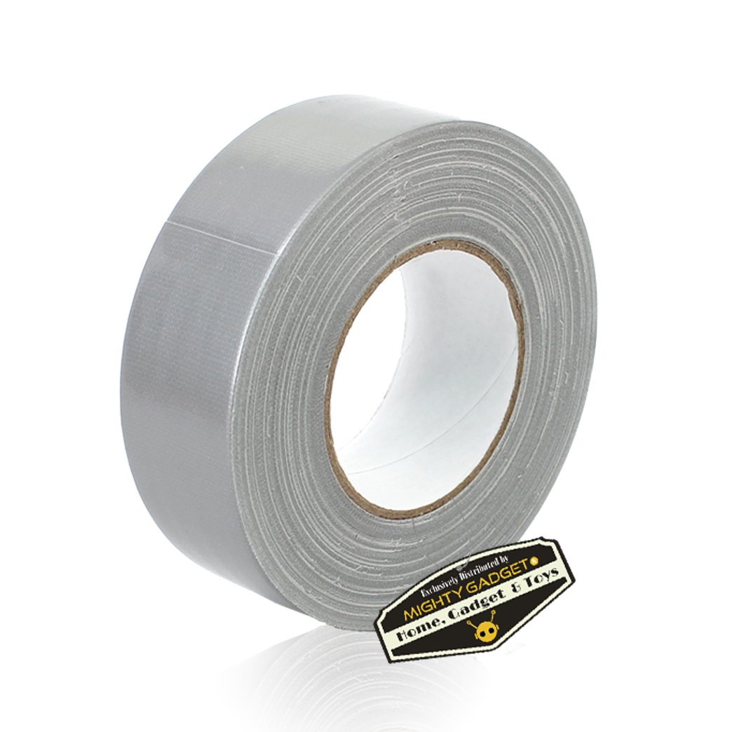 12 Rolls of Mighty Gadget (R) All- Purpose Utility Grade Duct Tape 1.88 inch x 60 Yards (Silver Gray Color)