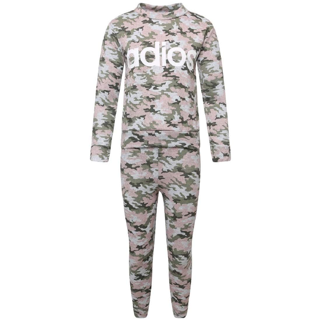 New Kids Girls Children 2 Piece Set Rainbow Camouflage Print Loungewear Joggers Tracksuit Age 7-13 Years