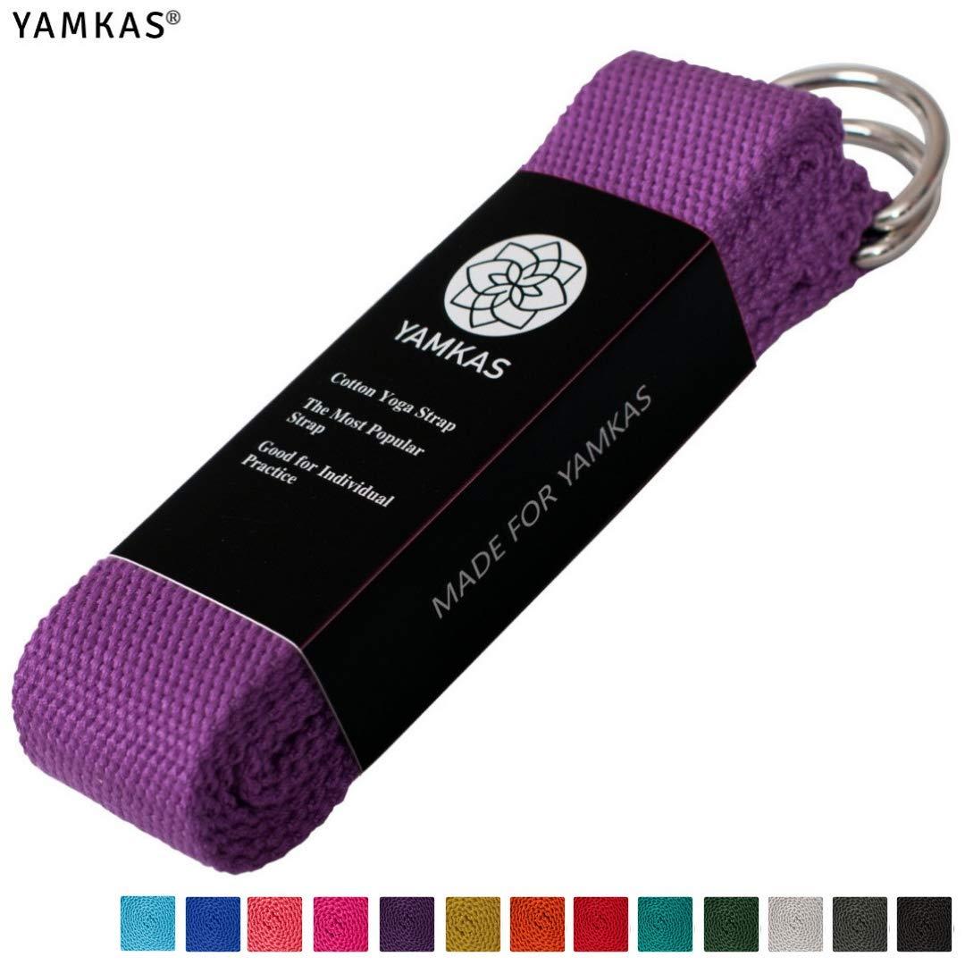 Yamkas Sangle Yoga 100% Coton - Yoga Strap - métal D-Ring Taille Unique e3ca83f3b3f