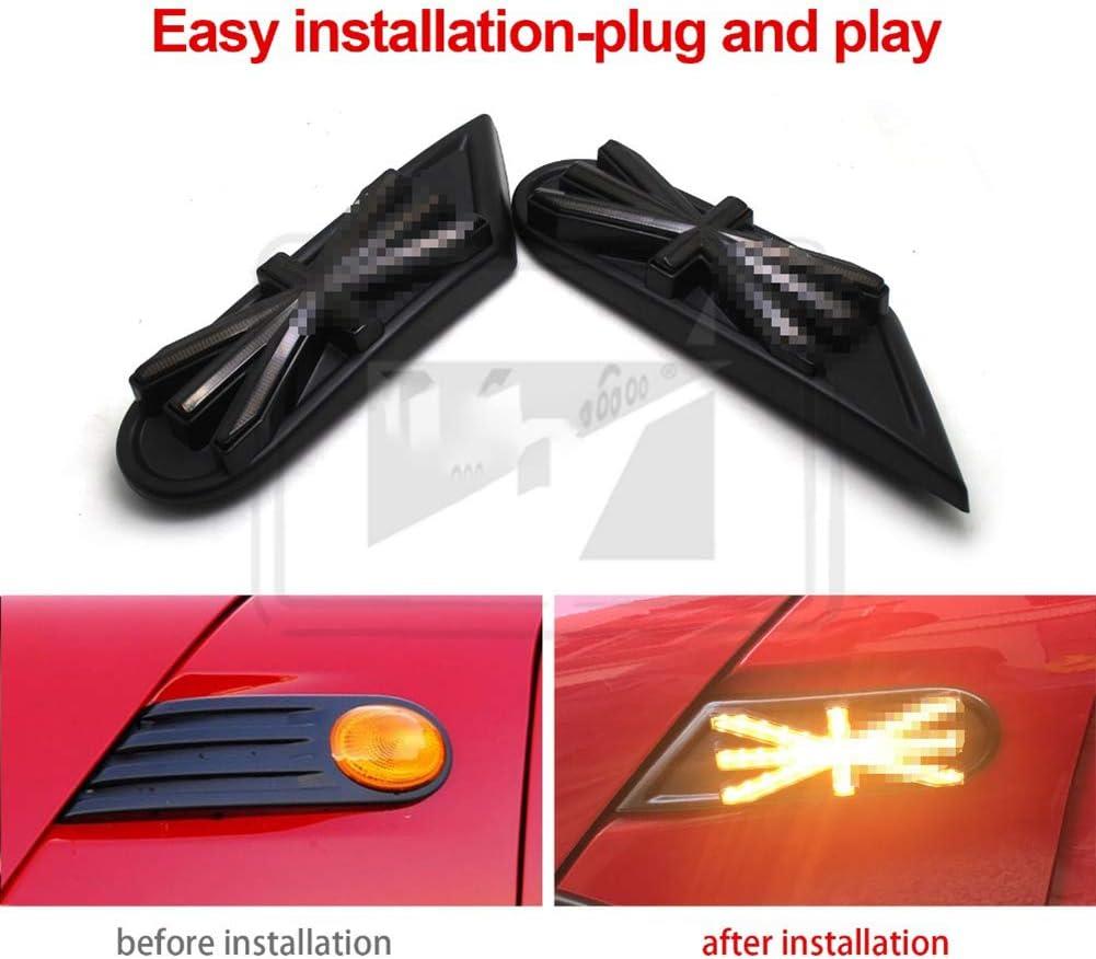 AniFM 2 pcs Dynamique Clignotant C/ôt/é Feux De Signalisation Assembl/ée Clignotant LED pour Mini Cooper R55 R56 R57 R58 R59