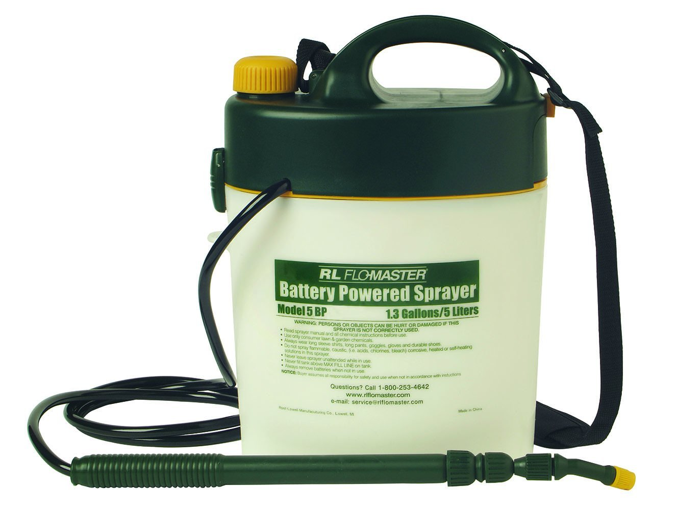 RLF5BP - Portable Battery-Powered Sprayer w/Telescoping Wand
