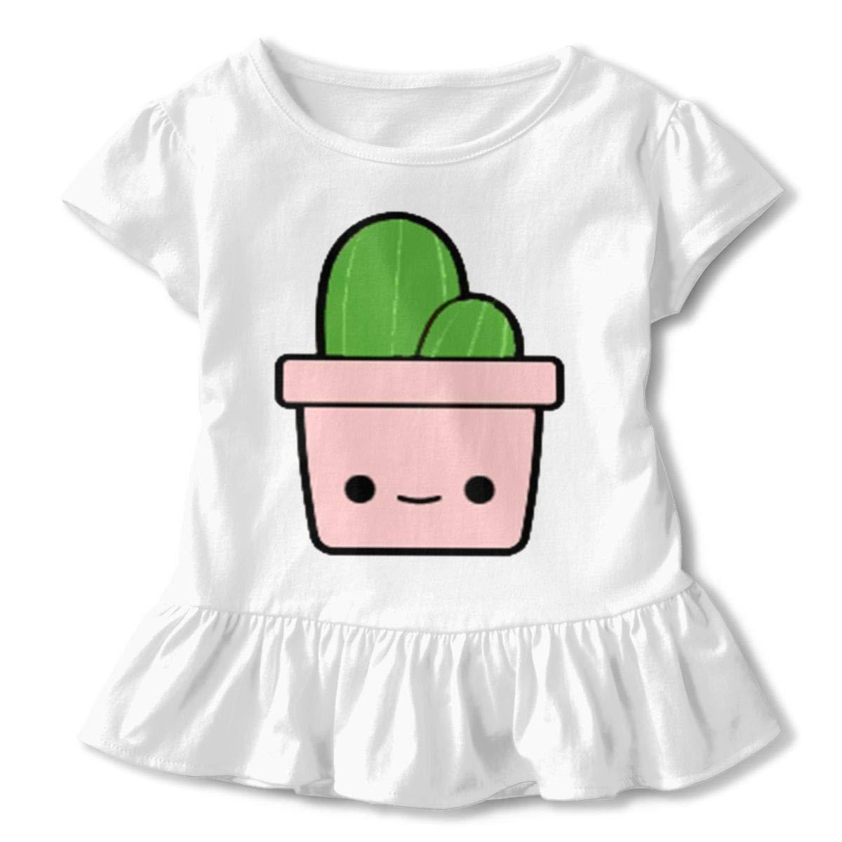 JVNSS Cactus Shirt Comfort Toddler//Infant Flounced T Shirts Graphic T-Shirt for 2-6T Kids Girls