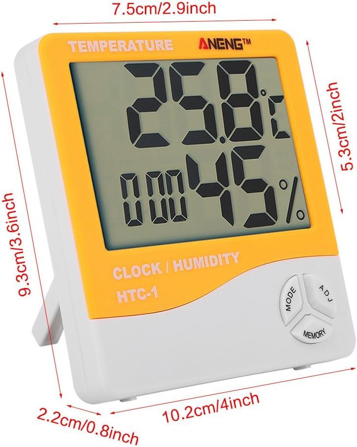 Jourbon Thermometer Hygrometer HTC-1 Feuchtemessung Thermometer LCD Display Indoor Au/ßentemperatur