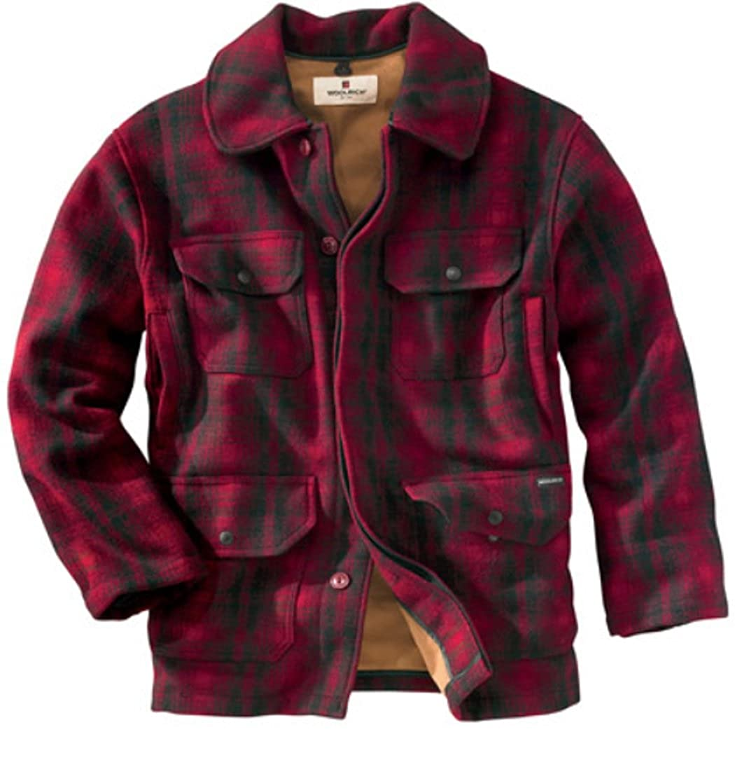 Men's Vintage Style Coats and Jackets Woolrich Mens Classical Field Wool Coat $199.95 AT vintagedancer.com