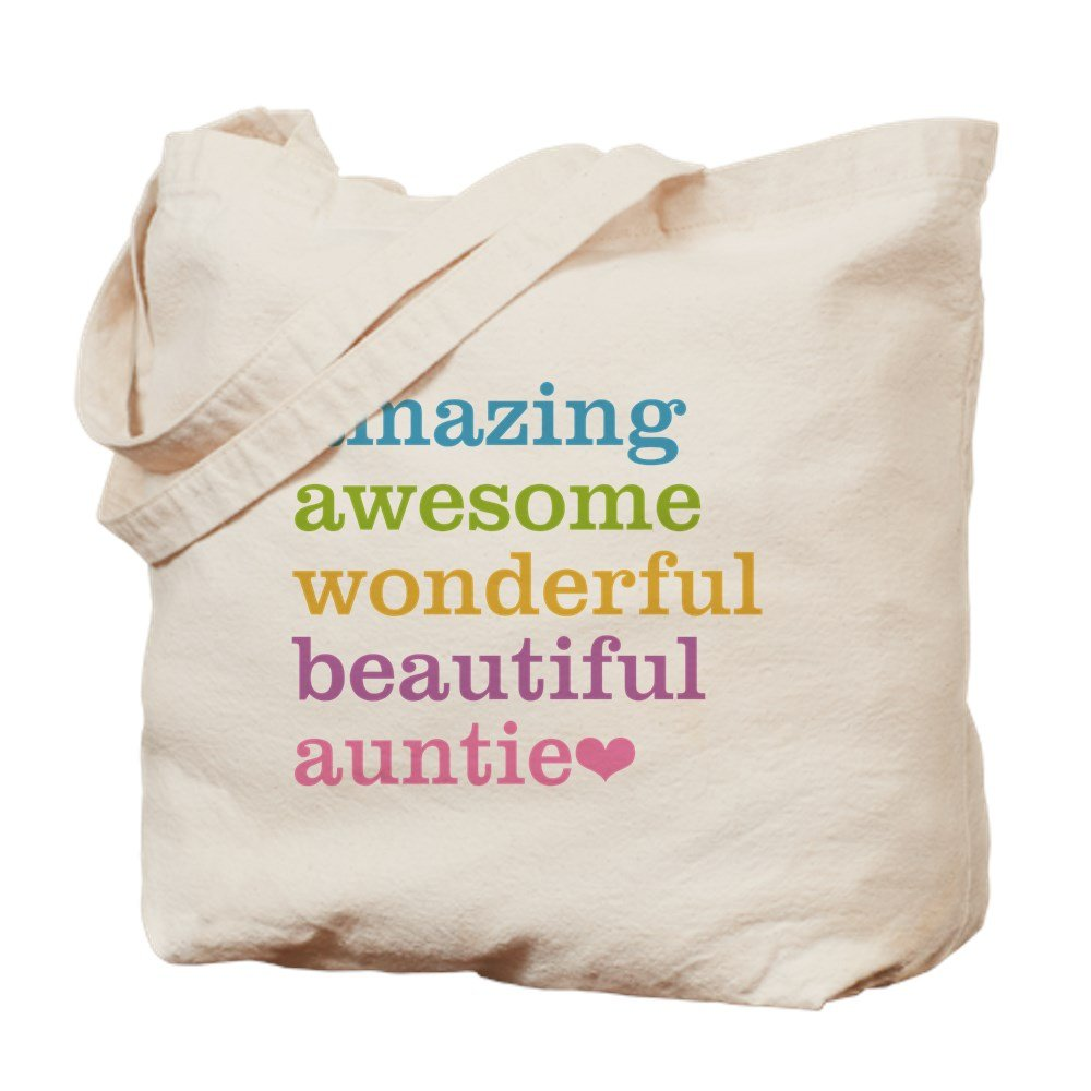 CafePress – Auntie – Amazing Awesome – ナチュラルキャンバストートバッグ、布ショッピングバッグ B06XZRP696