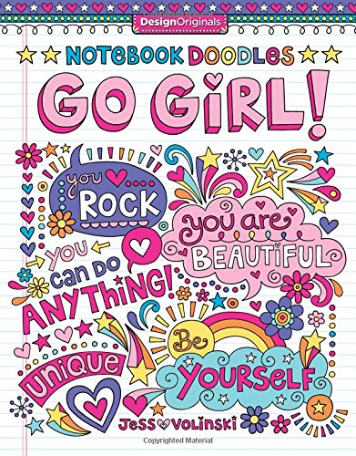 Notebook Doodles Go Girl Coloring product image